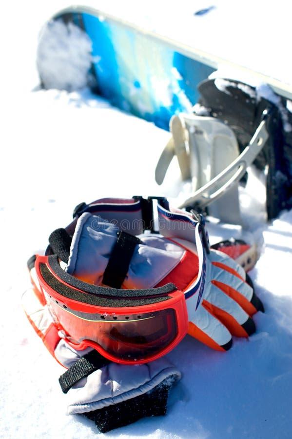 snowboard apparatuur stock afbeeldingen