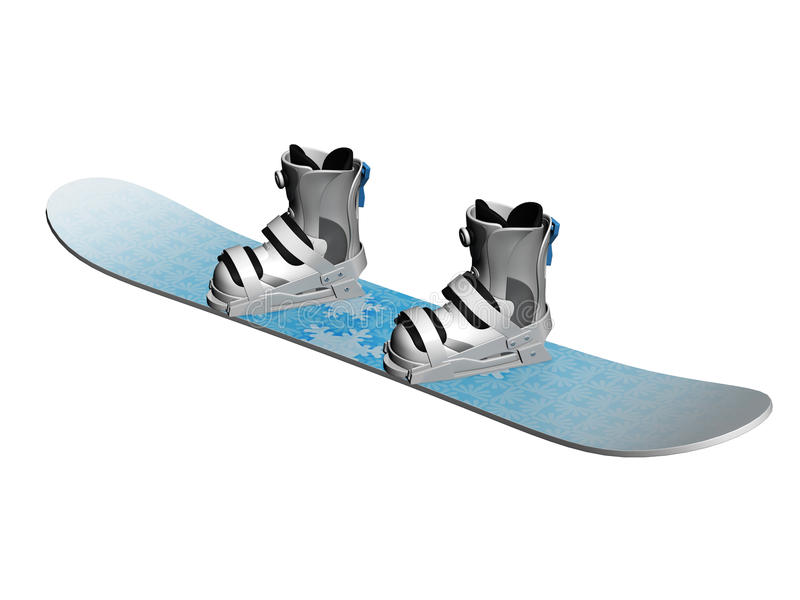 Download Snowboard and boots stock illustration. Illustration of boots - 16571781