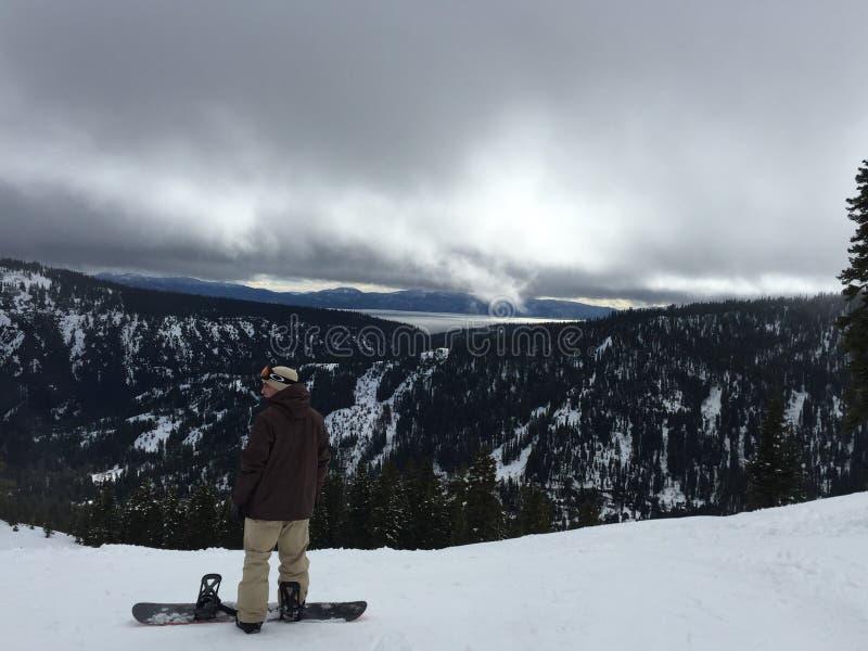 Snowboard con i pigoli fotografie stock