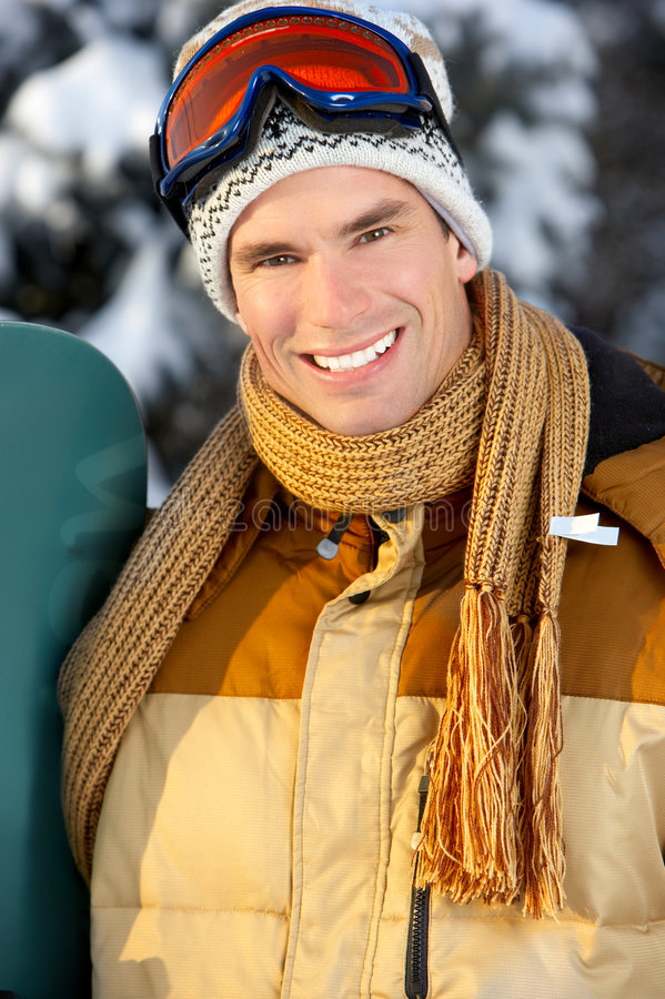 snowboard d'homme image libre de droits