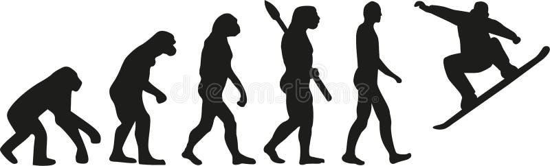Snowboard da evolução ilustração stock