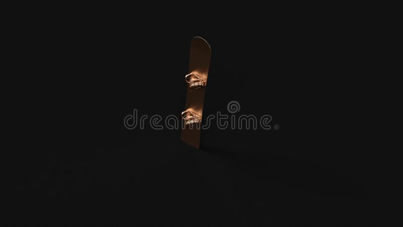 Snowboard de bronze de bronze ilustração do vetor