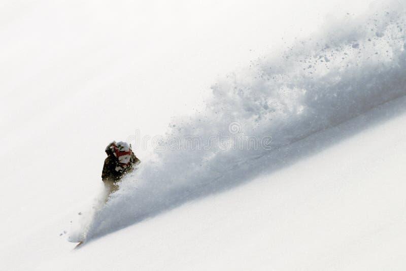 Snowboard de Freeride foto de archivo
