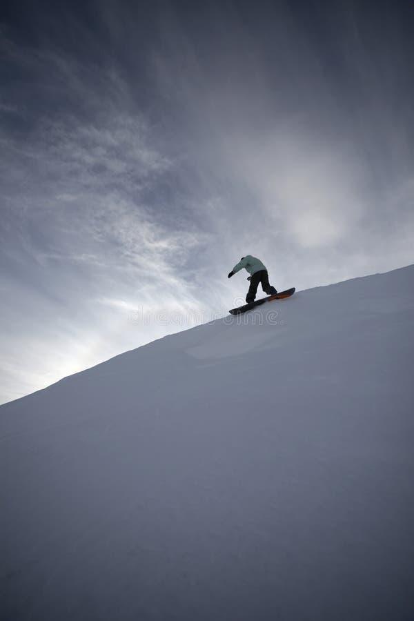 snowboard de hautes montagnes de freeride images libres de droits