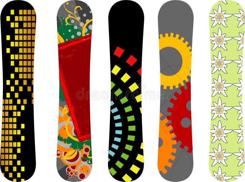 Snowboard design stock photos
