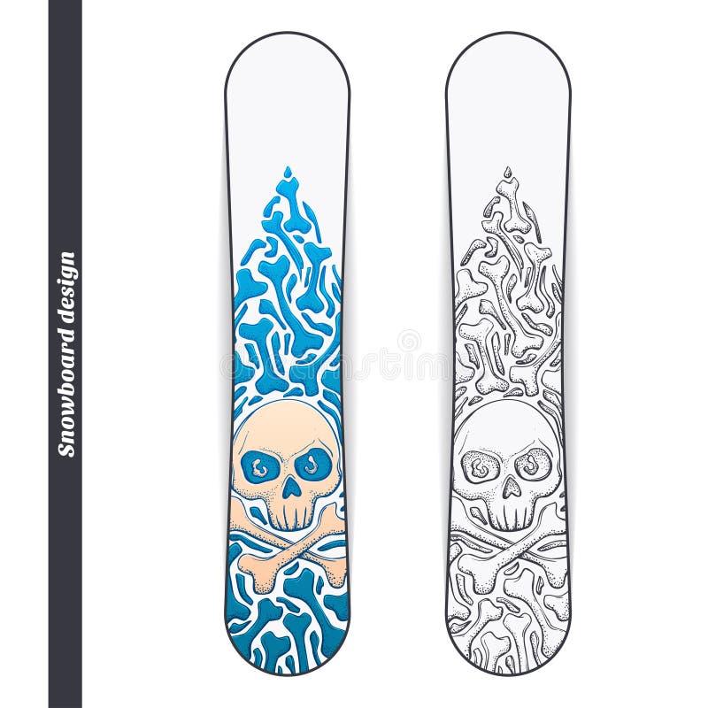Snowboard Design One stock illustration