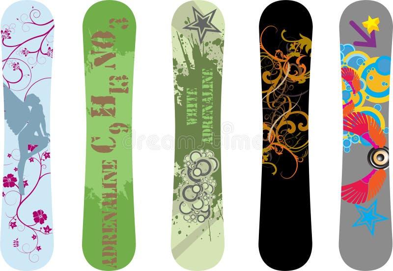 Snowboard designs stock image