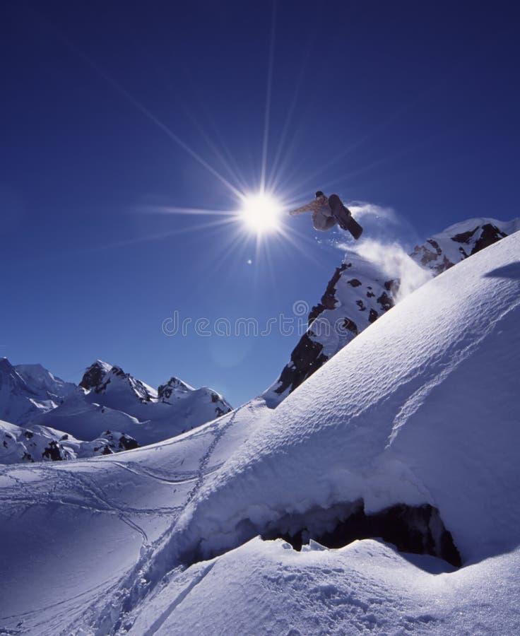 Snowboard di Freeride fotografie stock libere da diritti