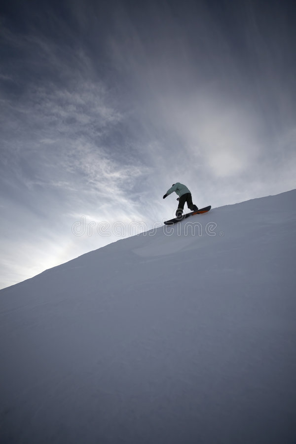 Snowboard Freeride In High Mountains Royalty Free Stock Images