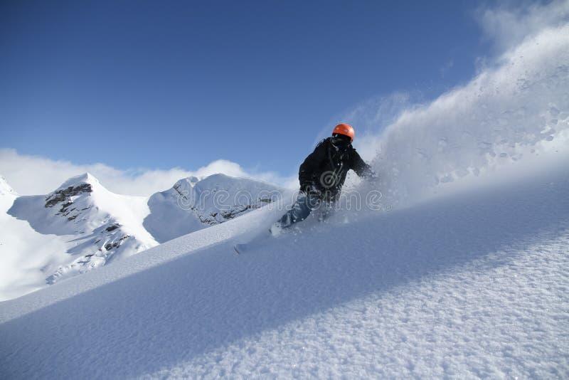Snowboard freerider zdjęcie royalty free