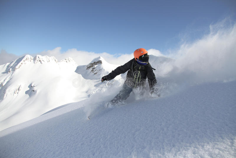 Snowboard freerider lizenzfreie stockfotografie