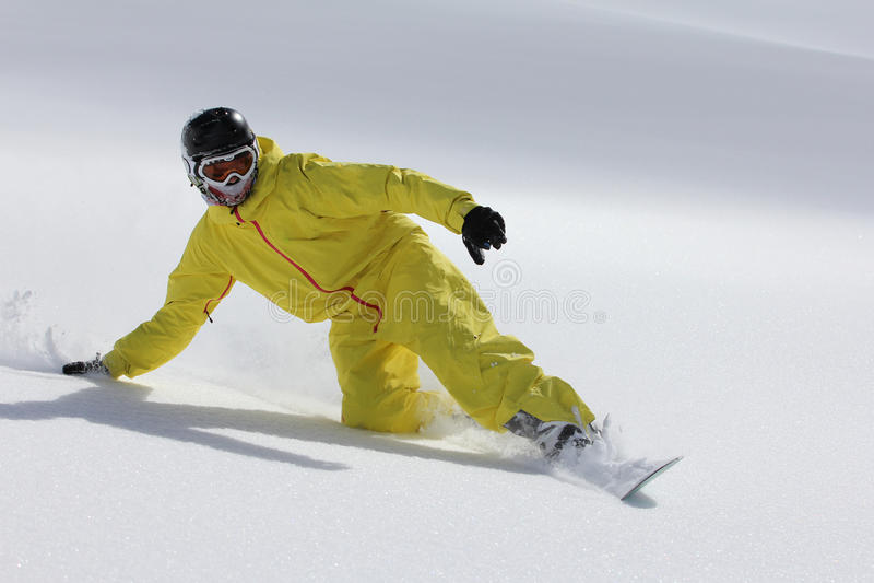 Snowboard freerider foto de stock