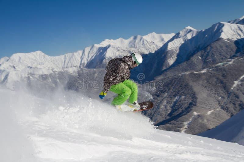 Snowboard freerider fotografia de stock