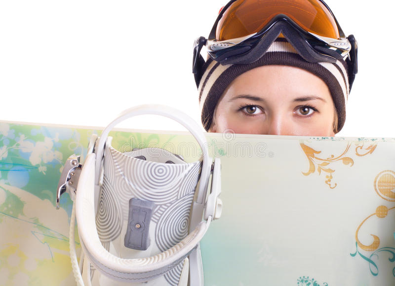 Download Snowboard girl stock photo. Image of winter, face, portrait - 12512928