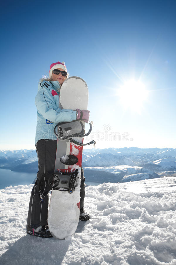 Download Snowboard girl stock image. Image of person, alpine, zealand - 15316311