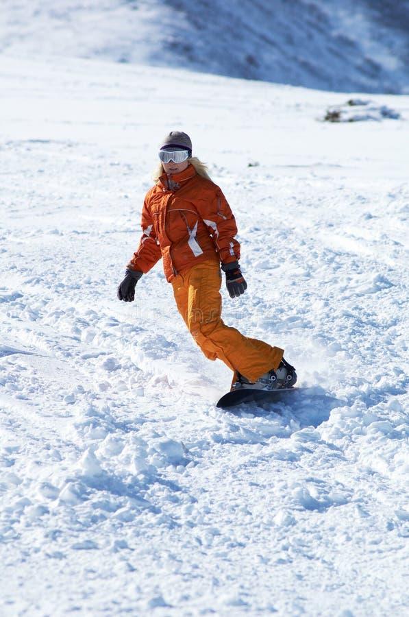 Free Snowboard Girl Stock Photography - 536872