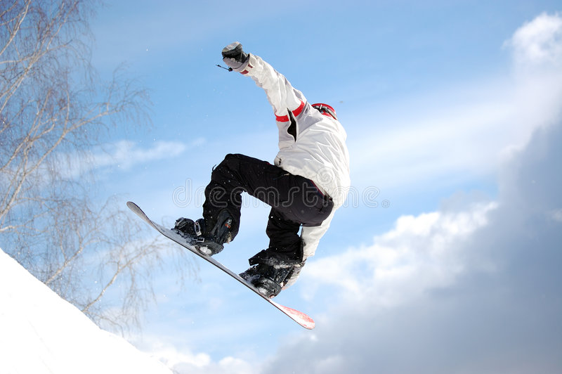 Snowboard half pipe stock photos