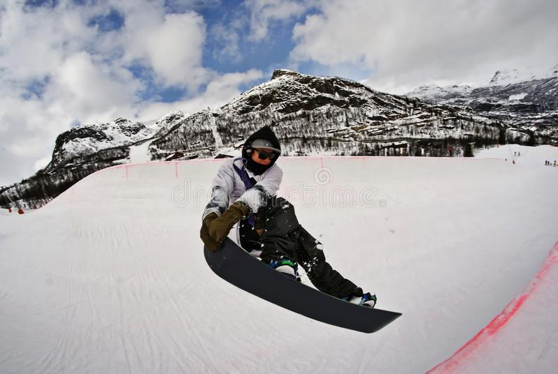 Download Snowboard Halfpipe stock image. Image of half, trick - 14540147
