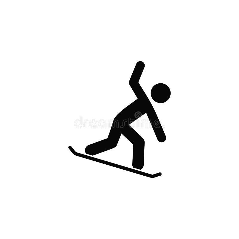 Snowboard, ikona Element prosta ikona dla stron internetowych, sieć projekt, mobilny app, infographics Gęsta kreskowa ikona dla s royalty ilustracja