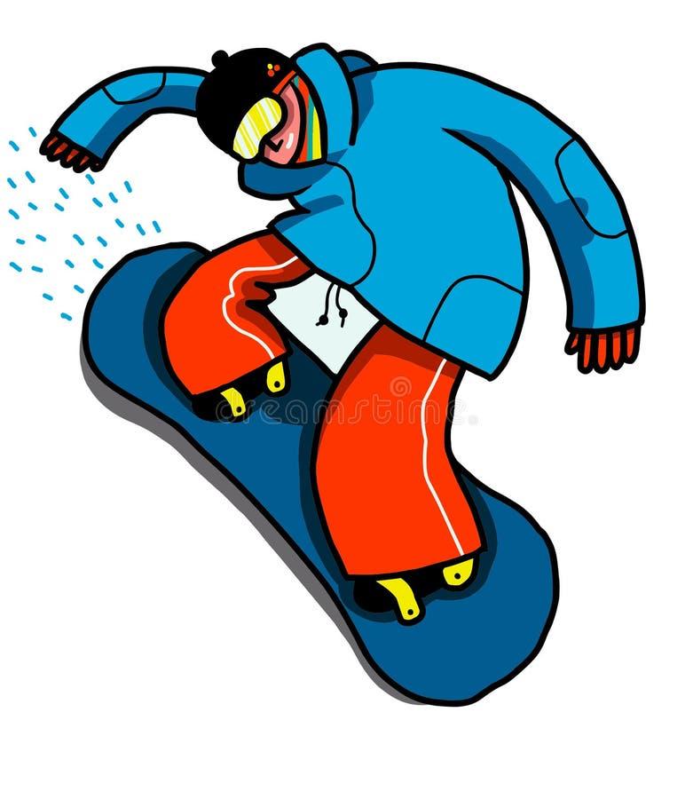 Snowboard jugendlich vektor abbildung