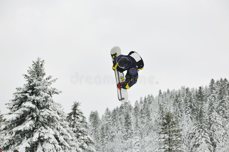 Download Snowboard jump stock image. Image of outside, adventure - 13023333