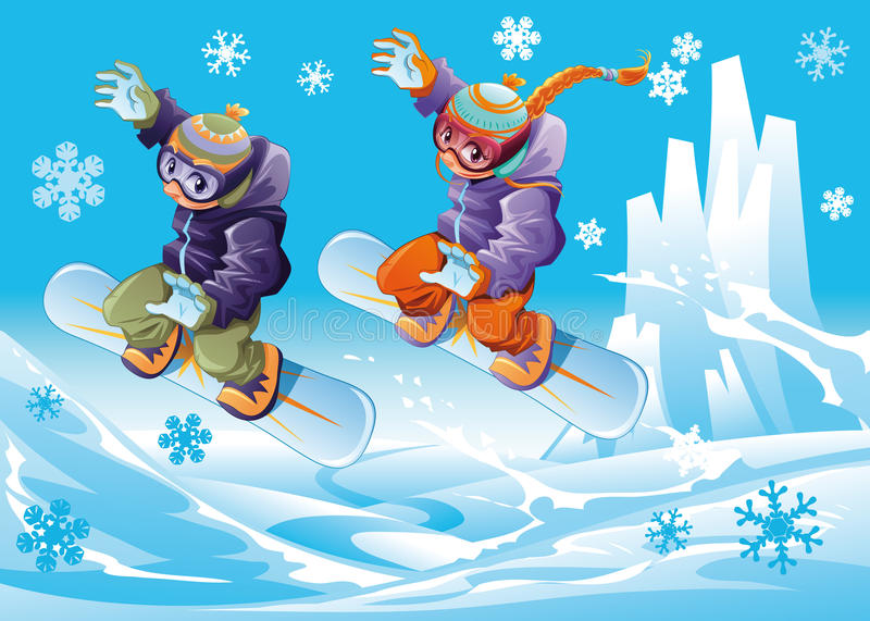 Snowboard junto. libre illustration
