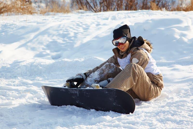 snowboard kobieta fotografia royalty free