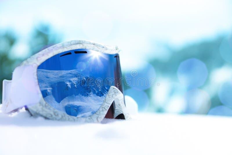 Snowboard maska obrazy stock