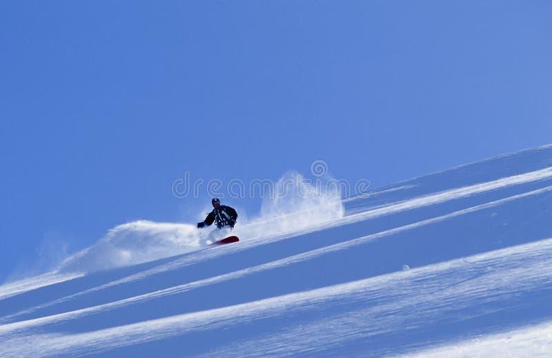 Snowboard nell'Alaska immagine stock