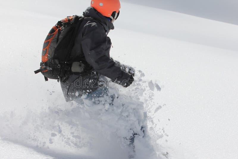 Snowboard parasitario foto de archivo libre de regalías