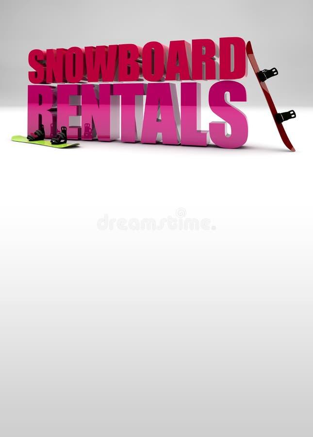 Download Snowboard Rentals Background Stock Illustration - Image: 33050998