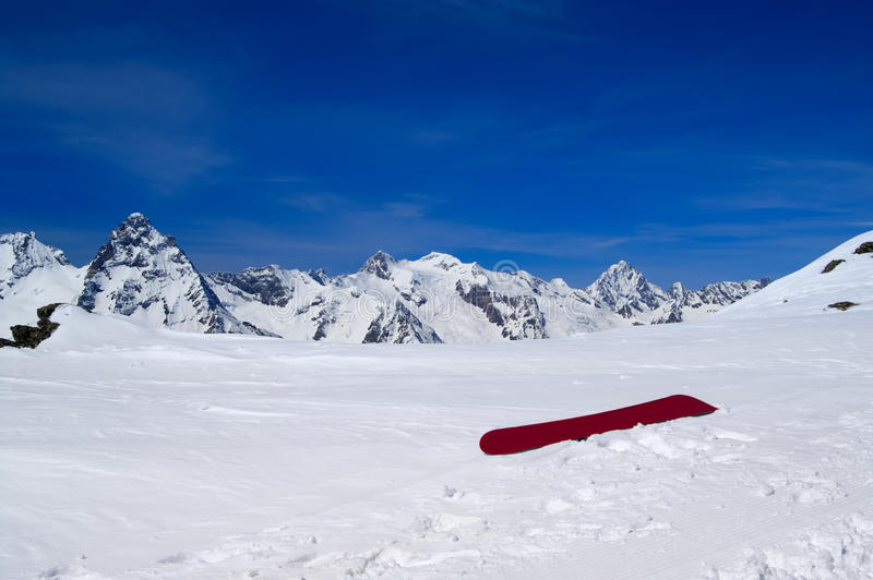 Download Snowboard on the ski slope stock image. Image of mountaineering - 16035495