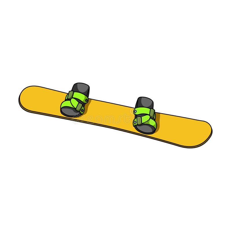 snowboard Solo icono del deporte extremo en web del ejemplo de la acción del símbolo del vector del estilo de la historieta libre illustration