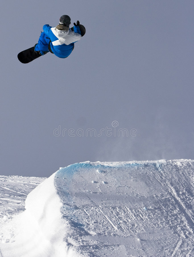 Snowboard Spin stock photo