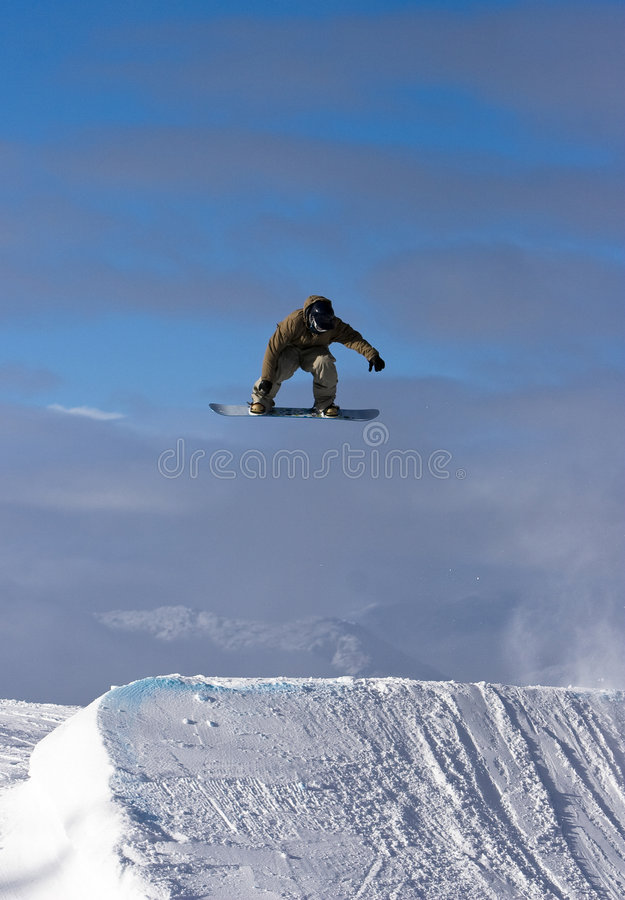 Snowboard Spin royalty free stock photography