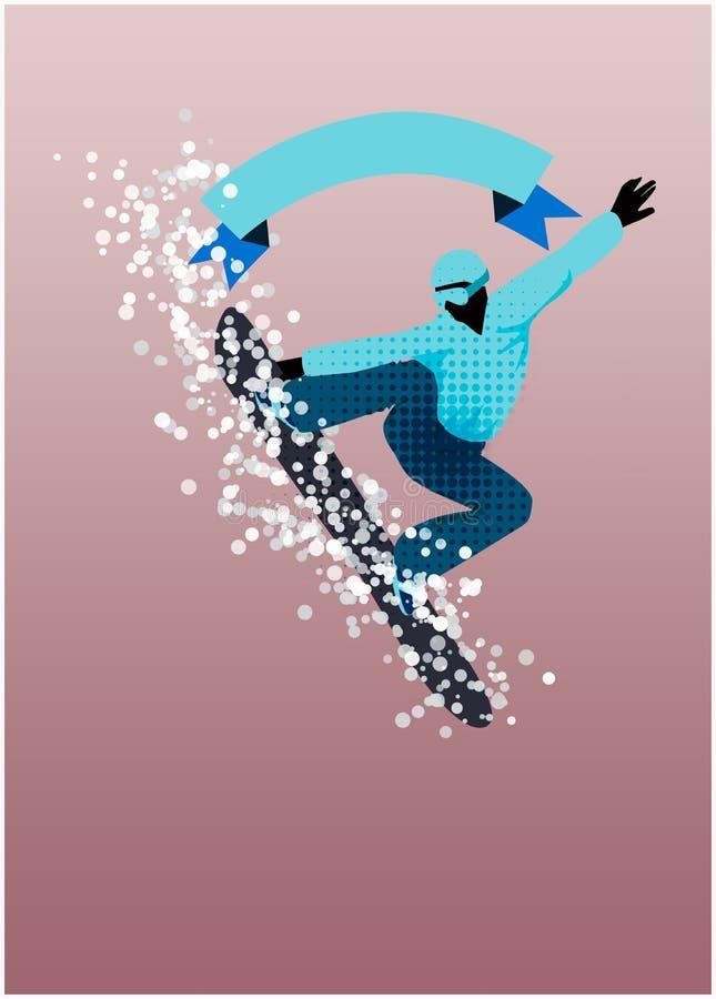 Snowboard tło ilustracja wektor