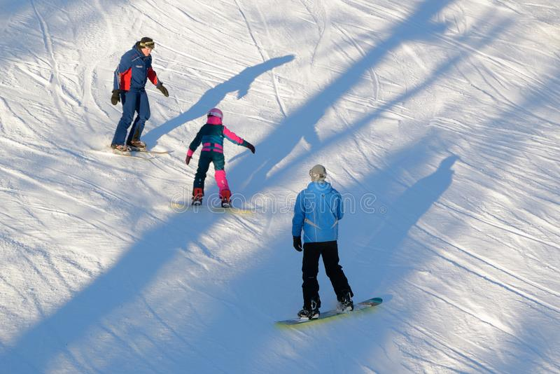 Snowboard-Training lizenzfreies stockfoto