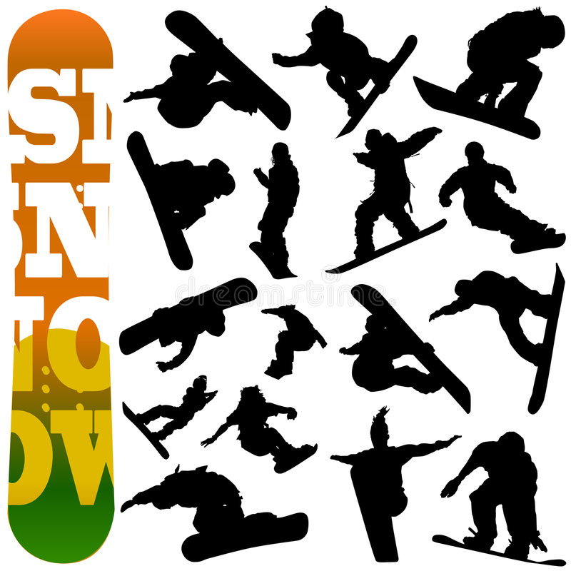 snowboard wektor royalty ilustracja