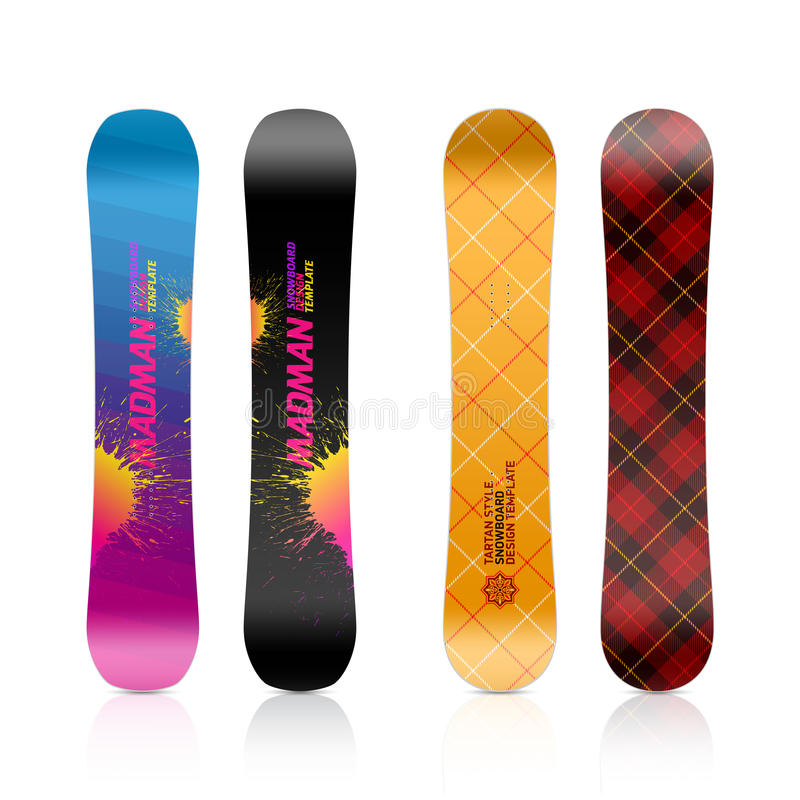Snowboarddesign stock illustrationer