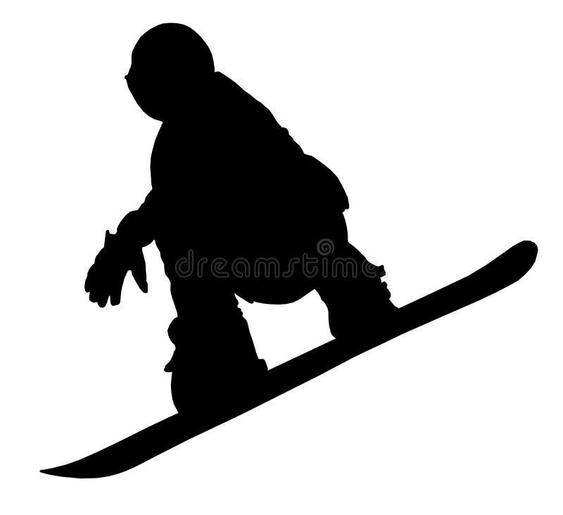 Snowboarder_02 illustrazione di stock
