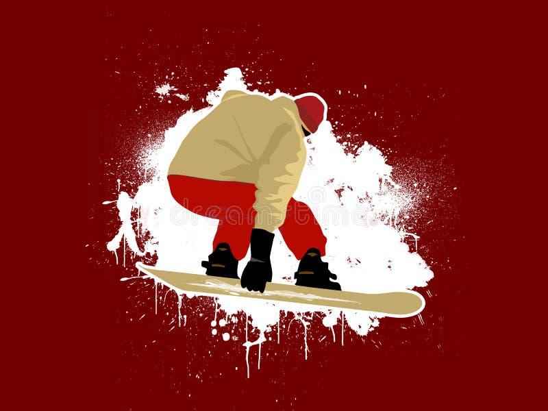 Snowboarder 1 ilustração do vetor