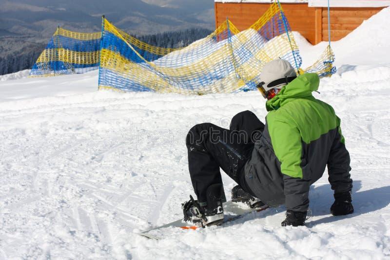 Snowboarder royalty-vrije stock foto