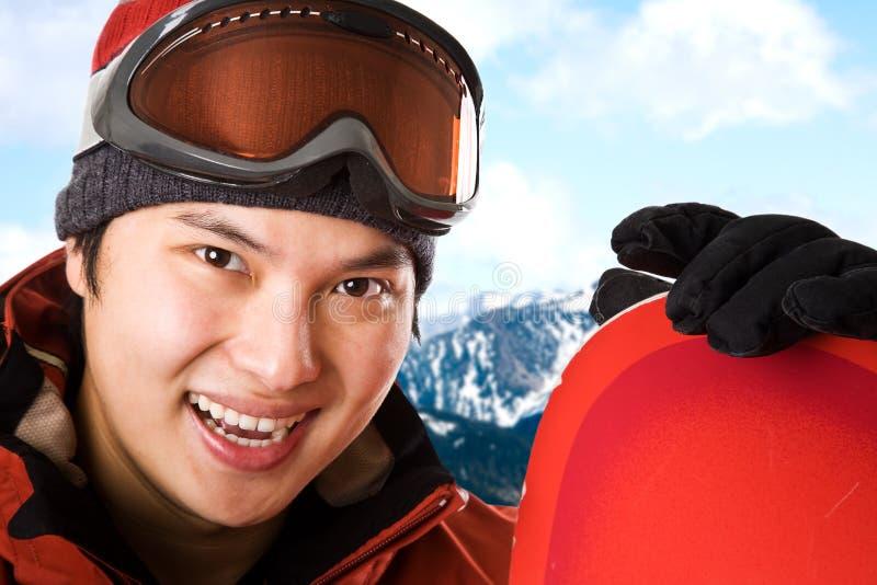 Snowboarder immagini stock