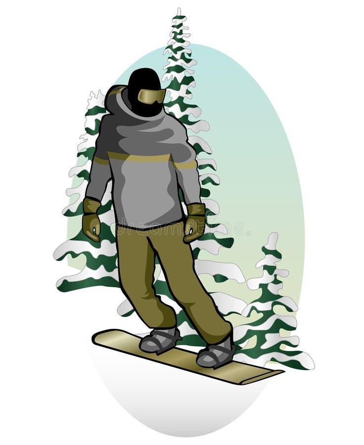Snowboarder royalty-vrije illustratie