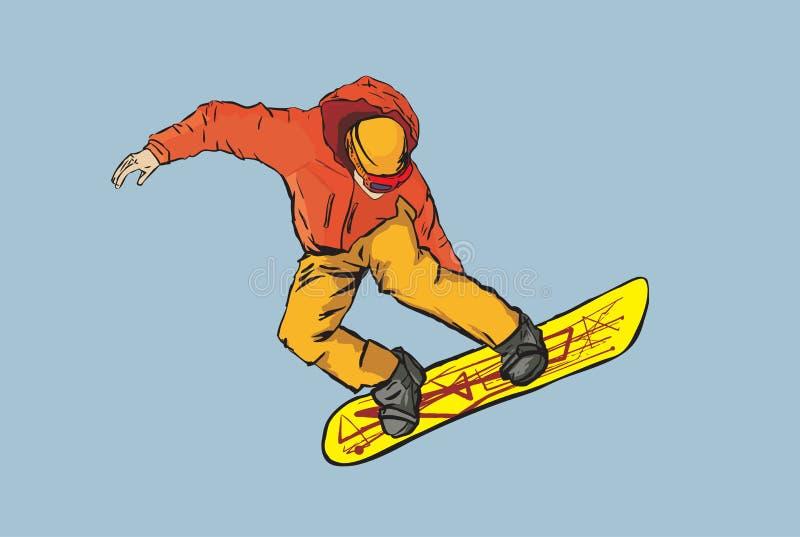 Snowboarder, ilustração do vetor