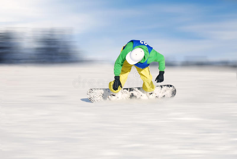 Download Snowboarder stock image. Image of snowboarder, blue, danger - 12703125