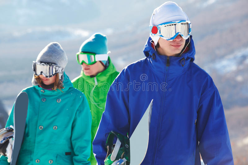 Download Snowboarder stock image. Image of girl, adult, healthy - 12963987