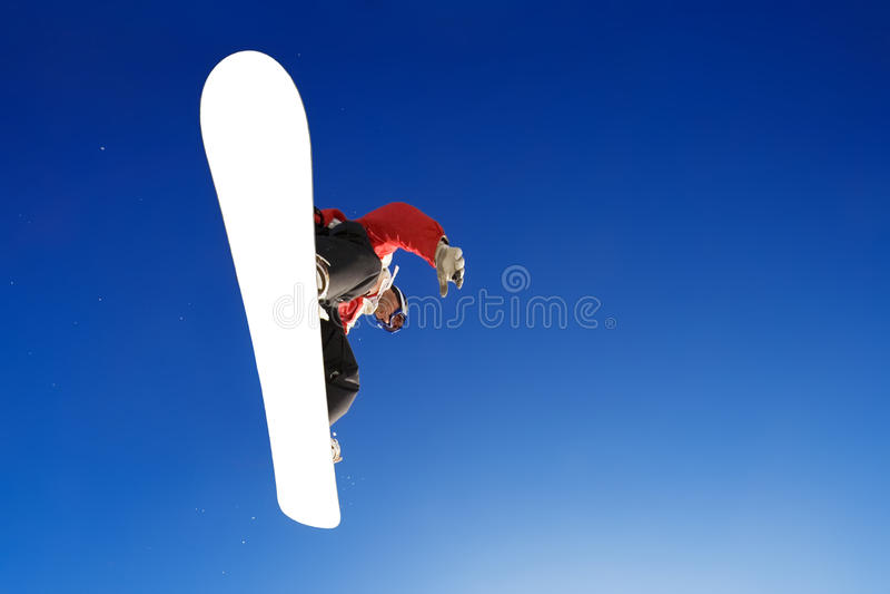 Snowboarder image stock