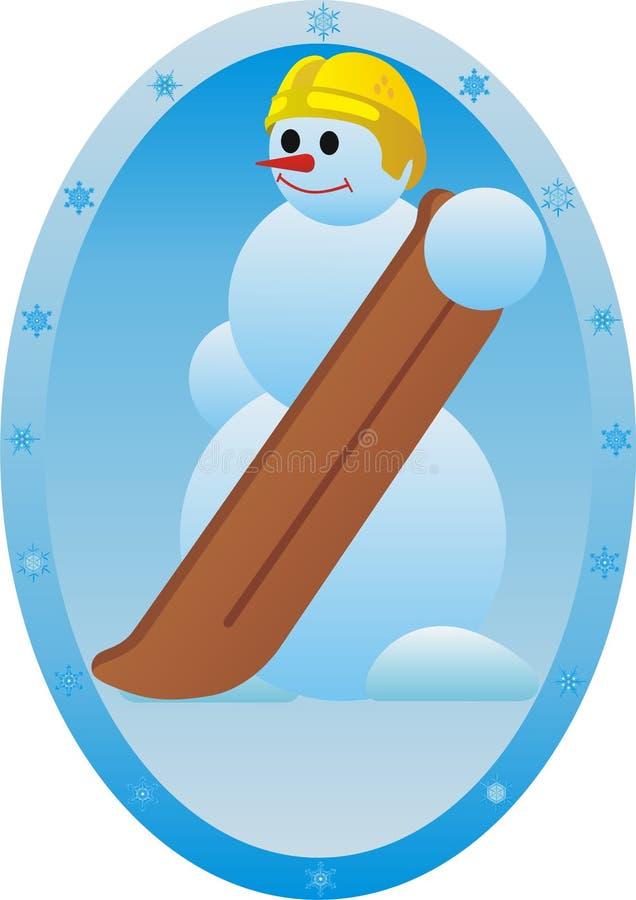 Snowboarder ilustração stock