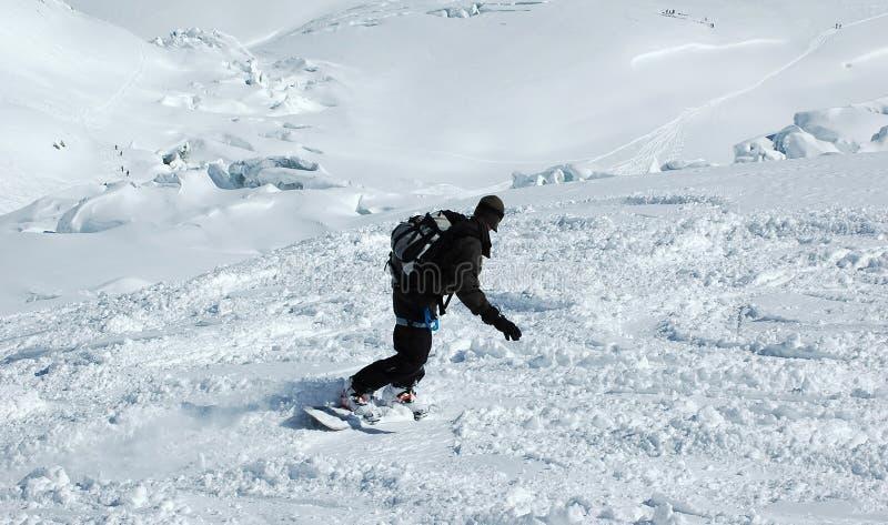 Snowboarder lizenzfreie stockfotos